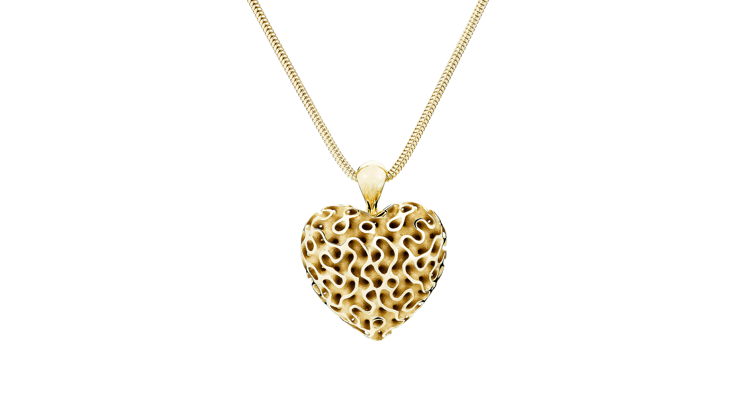 Silk Heart Yellow Gold Large TOWE Jewels